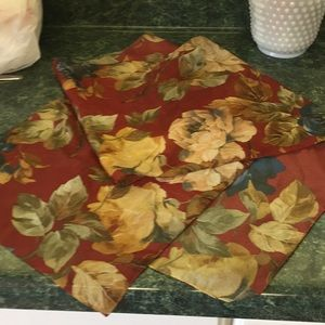 Floral rectangle scarf